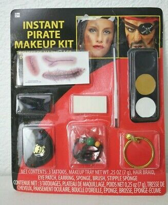 NEW Instant Pirate Makeup Kit Halloween  (Womens Pirate Makeup)