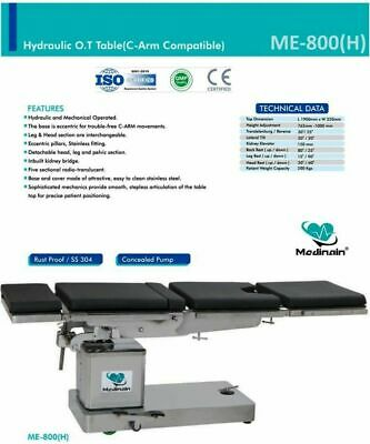 New Operation Theater Table Hydraulic And Mechanical C-arm Compatible Hydraulic