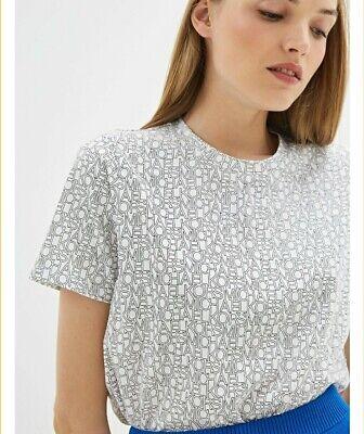 NWT Michael Kors Logo Outline T Shirt Size L