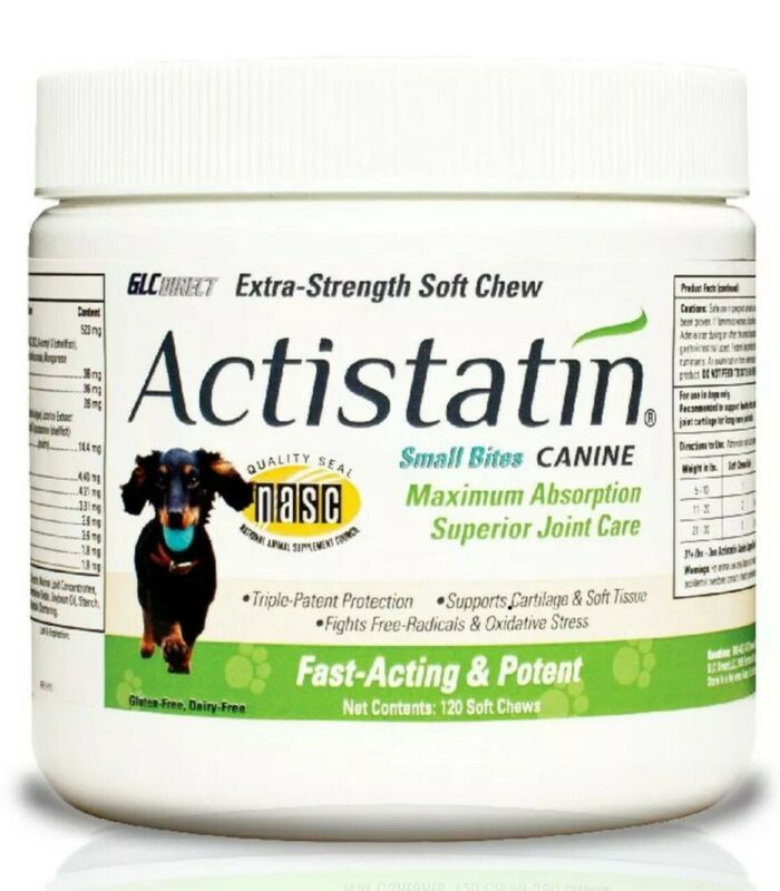 Actistatin Canine Small Dog Soft Chews, 120ct – Patented Extra-Strength Joint...