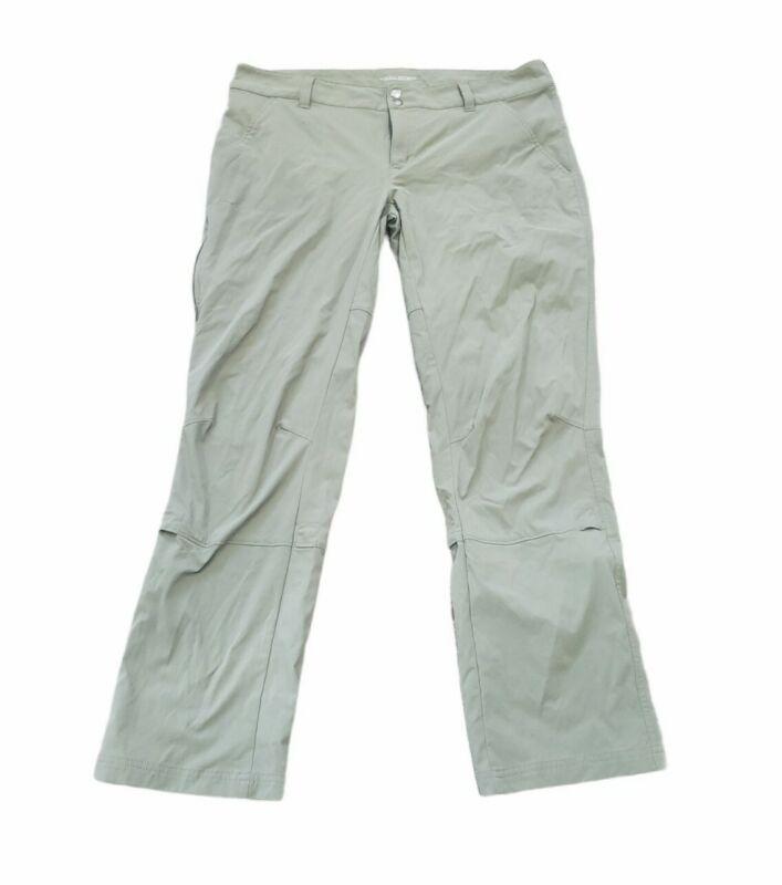 EUC Womens 16 Columbia Omni-Shield Green Pants Camping Hiking Sports Fishing