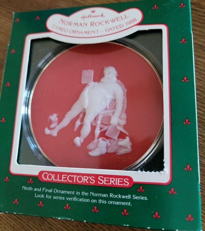 1988 Norman Rockwell #9 And to All a Good Night - Cameo Hallmark Ornament