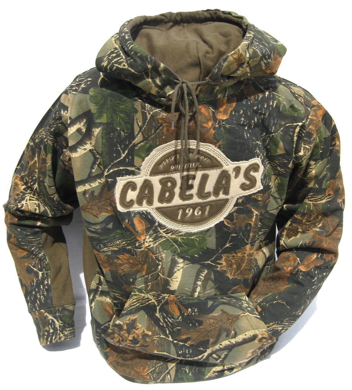 Cabela's Seclusion 3d Camo Hunting Ultra Warm Heavyweight Sz M L Xl Hoodie