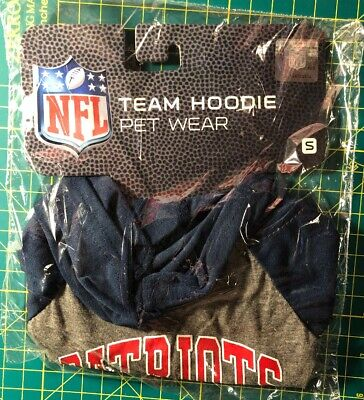 NFL New England Patriots Team Hoodie Dog T-Shirt Pet Wear Size Small S ()