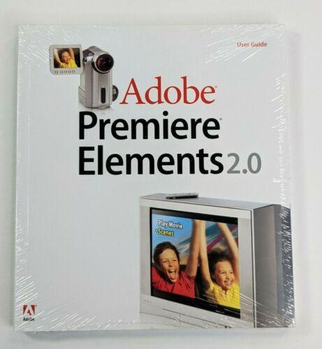 Adobe Premiere Elements 2.0, Sealed User Guide 2005
