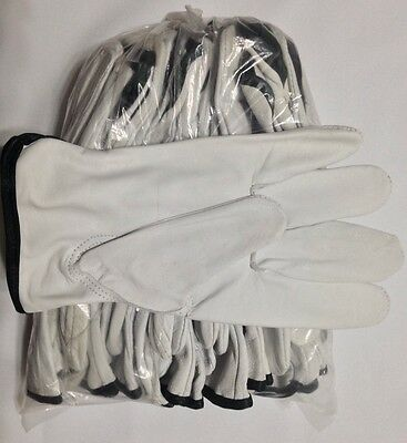12 Pair Pack, Goat Skin Grain Leather Drivers, work safety gloves (PPE), Size XL, used for sale  Shipping to South Africa
