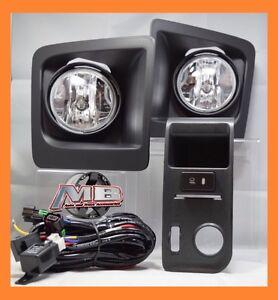 for 14 15 16 GMC Sierra 1500 Clear Fog Light Bumper Lamp PAIR WIRING+SWITCH KIT