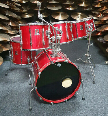 Premier Resonator Red Drum Kit w/Cases USED! RKPRR130419