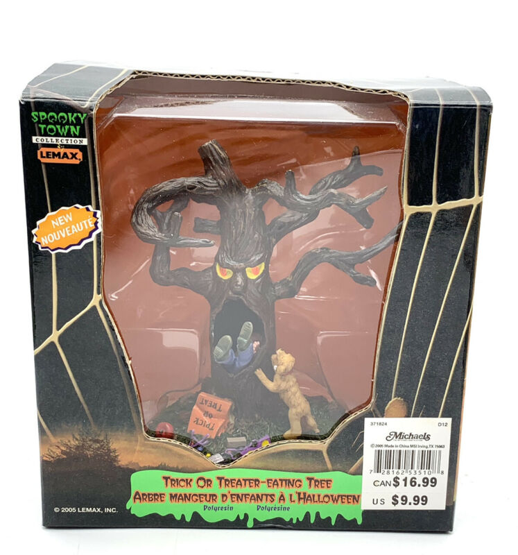 Lemax Spooky Town Trick or Treater Eating Tree