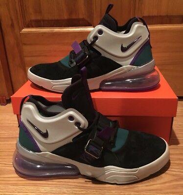 New Nike Air Force 270 Men's Size 9 [AH6772-005] Black Grey Court Purple Shoes