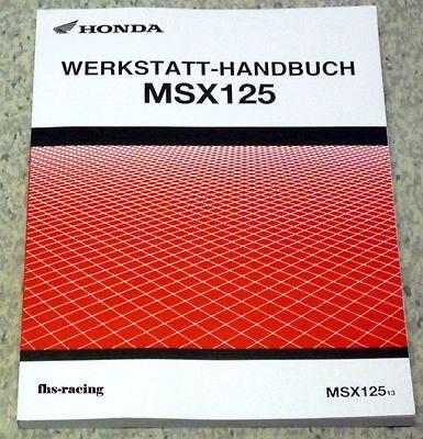HONDA , MSX 125 , JC 61 , ab 2013 , Werkstatthandbuch , Reparatur Anleitung Top