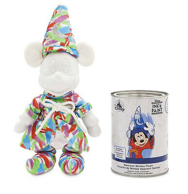 Disney Parks Ink Paint Sorcerer Mickey Mouse Multicolored Plush