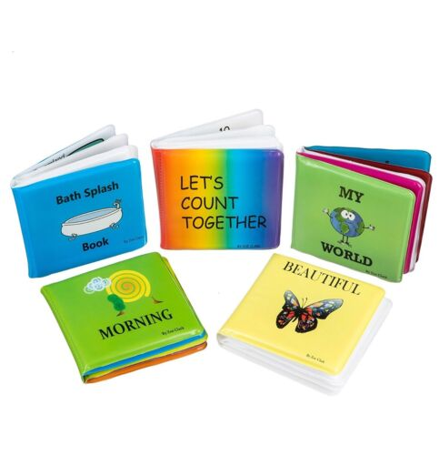 Waterproof Baby Bath Book Set of 5 for Loving Families WITH