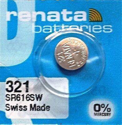 321 RENATA SR616SW SR616 Watch Battery Free Shipping Authorized Seller