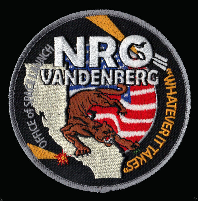 "NRO VANDENBERG -  OFFICE OF SPACE LAUNCH - ""WHATEVER IT TAKES"" USAF NRO PATCH"