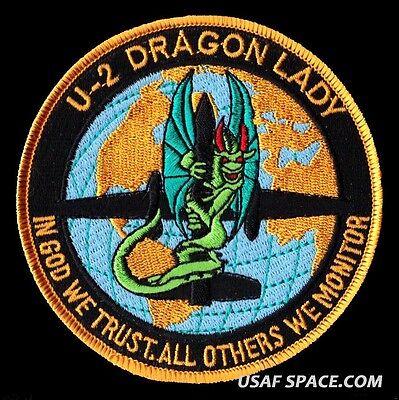 U-2 DRAGON LADY #1 - IN GOD WE TRUST - OTHERS WE MONITOR - USAF - DOD NRO PATCH