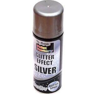 Silver glitter spray ebay for Spray glitter for crafts