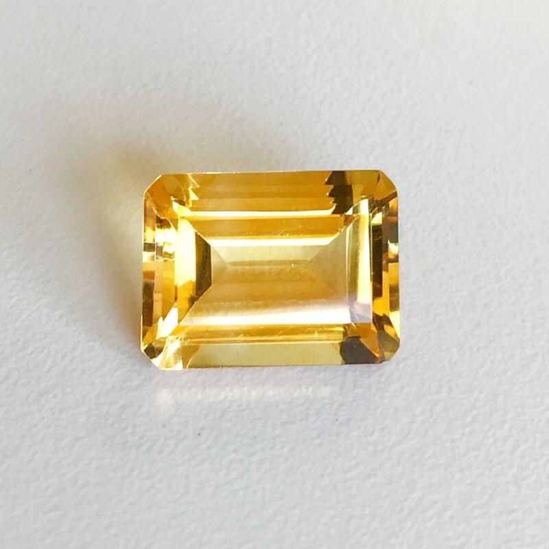 Natural 7 x 5 - 16 x 12 mm Emerald Cut Loose Citrine Gemstone