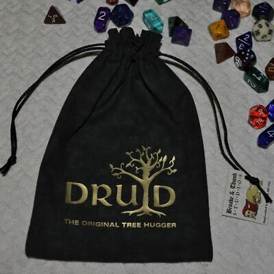 D&D Dungeons & Dragons game yggdrasil magic DRUID Tree of Life handmade dice bag