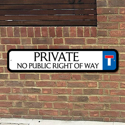 PRIVATE Sign, Robust Private Road Sign, No Access Keep Out Sign, No Right of way](No Way Out Sign)