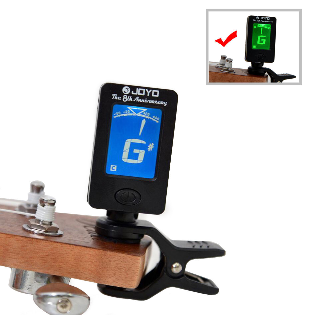 lcd clip on electronic digital guitar tuner electric guitar bass cr2032 battery ebay. Black Bedroom Furniture Sets. Home Design Ideas