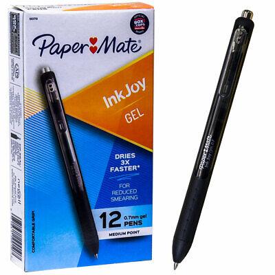 Paper Mate Inkjoy Gel 0.7 Pen 1951719 Black Gel Ink Box Of 12 Pens