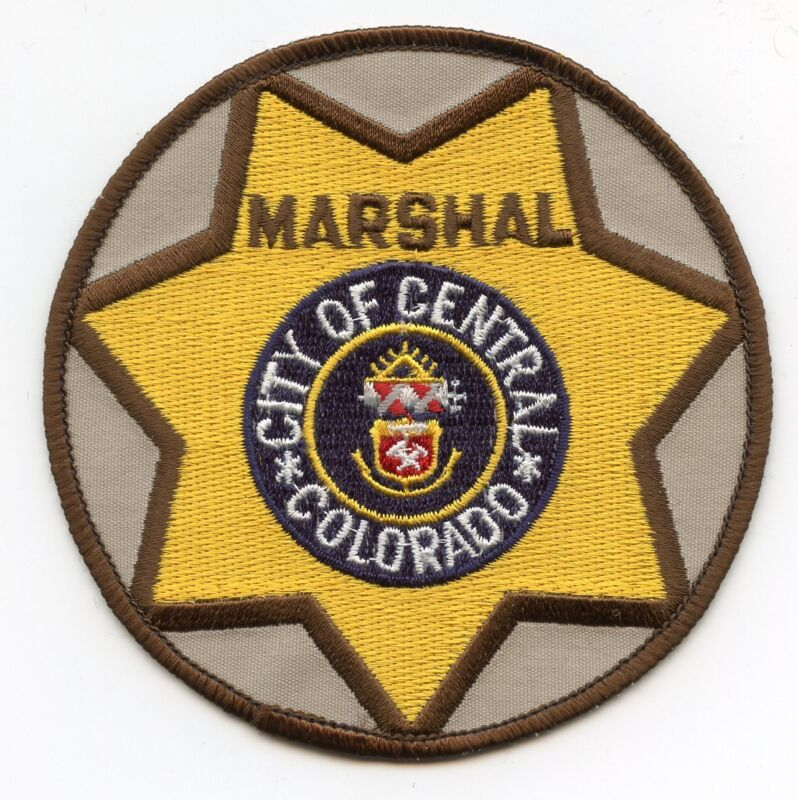 CENTRAL CITY COLORADO CO MARSHAL police PATCH