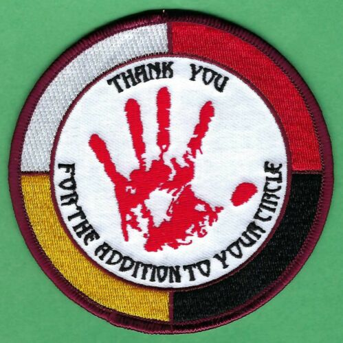 AIM AMERICAN INDIAN MOVEMENT THANK YOU FOR THE ADDITION TO YOUR CIRCLE PATCH