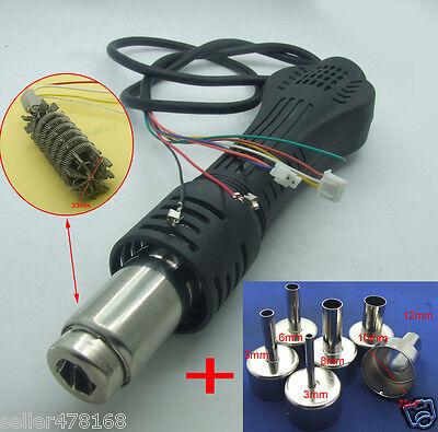 Hot Air Gun Handle 6pcs Nozzle For Atten At858d At8586 At858a Soldering Stat