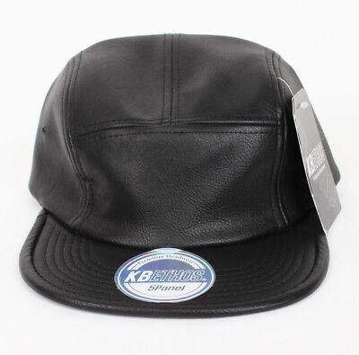 KBETHOS Faux Leather 5 panel camp cap hat NEW