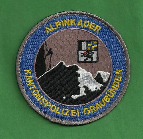 GRAUBUNDEN SWITZERLAND POLICE ALPINKADER MOUNTAIN SEARCH & RESCUE PATCH