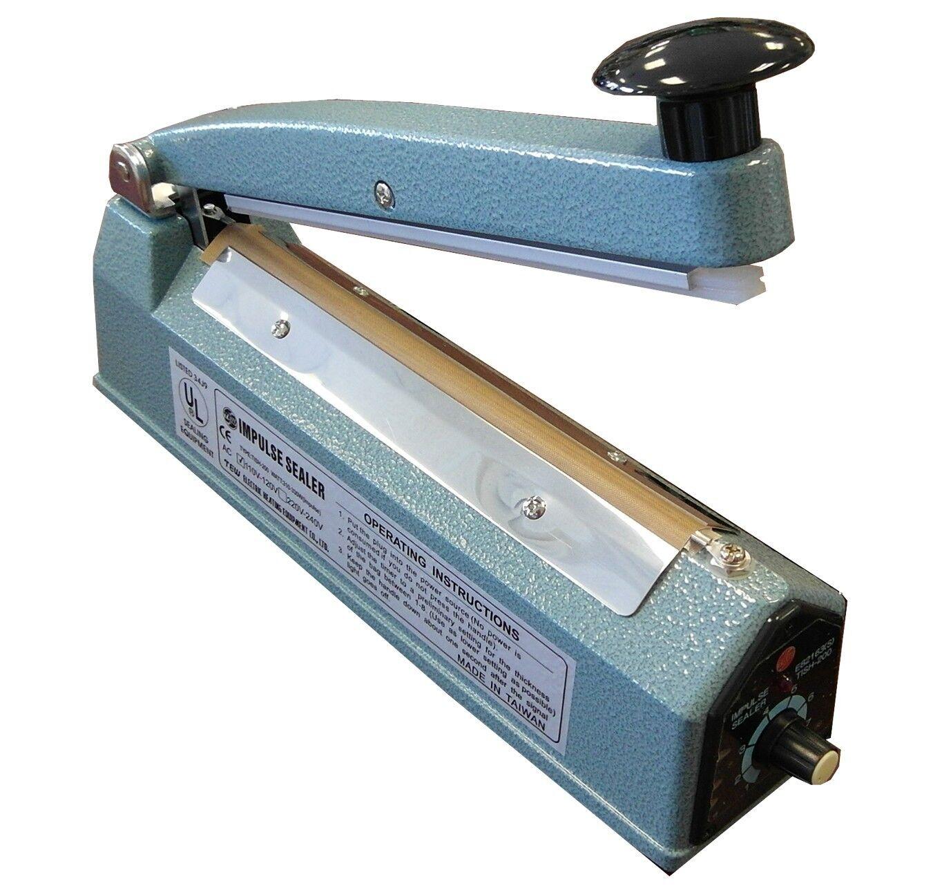 "16/"" Impulse Manual Heat Sealing Machine,Extra element set /& teflonstrip included"