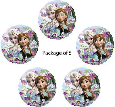 Disney FROZEN Party Decorations Supplies Princess Anna Elsa Foil Balloons 5ct