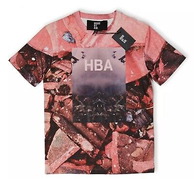 BRAND NEW WITH TAGS HBA HOOD BY AIR 'OVERCOME' T-SHIRT MEN'S SIZE LARGE