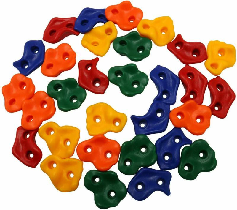25 Pack Climbing Holds Rock with Installation Hardware for Kids DIY Stone Wall