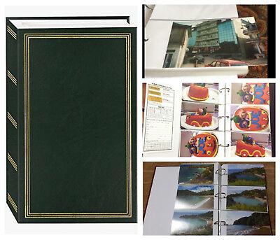 Photo Album Memory Family Wedding Baby  4 x 6 Slip In 500 Photos - Green Vintage