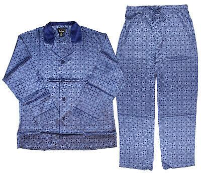 Intimo Men's Silk Pajama Set Royal Tapestry Pattern PJ Large