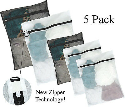 Kassa 5pc Mesh Laundry Bag (Large & Small) Wash Bags for Bra Delicates Lingerie