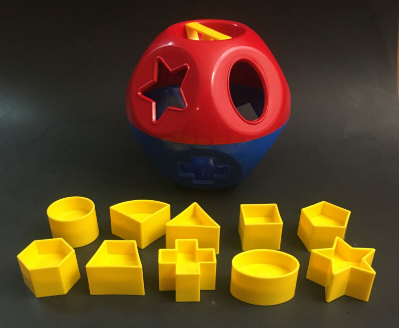 Tupperware Shape-O-Ball Toy Sorter Complete w 10 Shapes Tuppertoys
