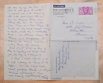 MayfairStamps Great Britain 1948 to Wilmette Illinois Used Stationery Aerogramme