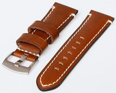Uhrenarmband extra dicke Qualität und doppelt vernäht 20 mm, 22 mm, 26 mm
