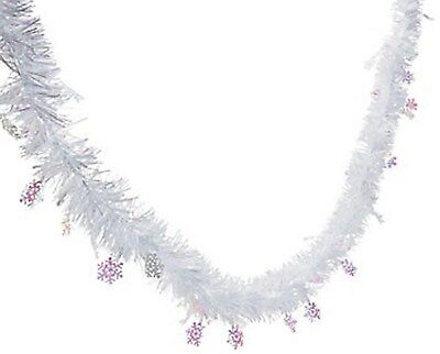 FOIL SNOWFLAKE GARLAND DECORATION FROZEN Winter Wonderland Decor Party Fun NEW