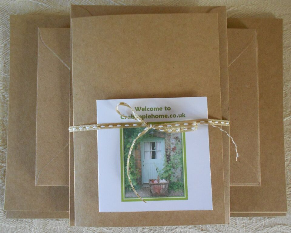 50 A6/C6 Blank Recycled Kraft Cards and Envelopes - Natural
