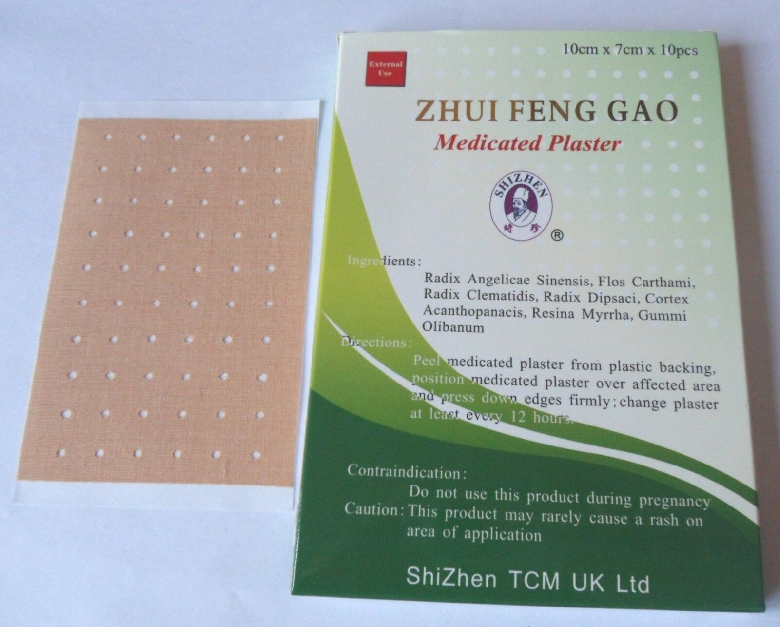 10pks 100 Zhui Feng Gao Herbal Medicated Plaster Patch Muscle Back Pain Sciatica