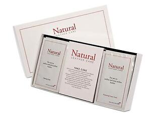 DFS Natural Leather Sofa Cleaner Care Kit With Cleaning and Protective Wipes