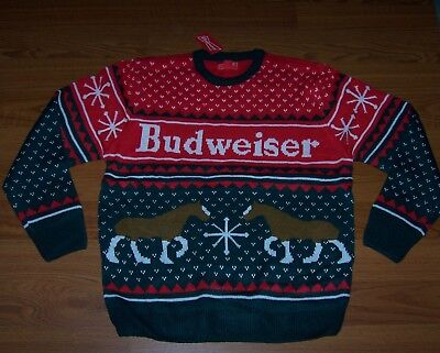 Size S Mens Ugly Christmas Sweater Budweiser - Mens Christmas Sweaters