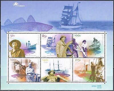 Portugal 2000 blok 163 Visserij-schepen - ships Postfris MNH cat waarde € 9,50