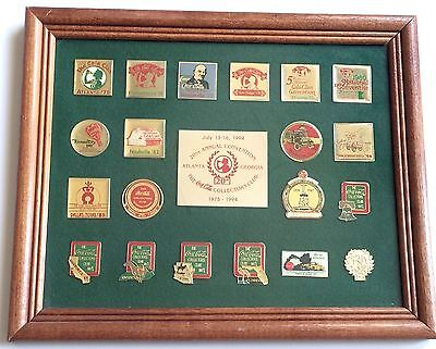 COCA COLA COLLECTORS CLUB 1994 CONVENTION 20th ANNIVERSARY FRAMED PIN-BACK SET
