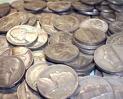 1 SILVER 35 JEFFERSON WAR NICKEL DATES RANGE FROM 1942-45