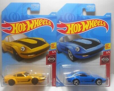 HOT WHEELS 2019 NISSAN FAIRLADY Z BOTH COLOR VERSIONS NISSAN 54/250 MINT ON CARD
